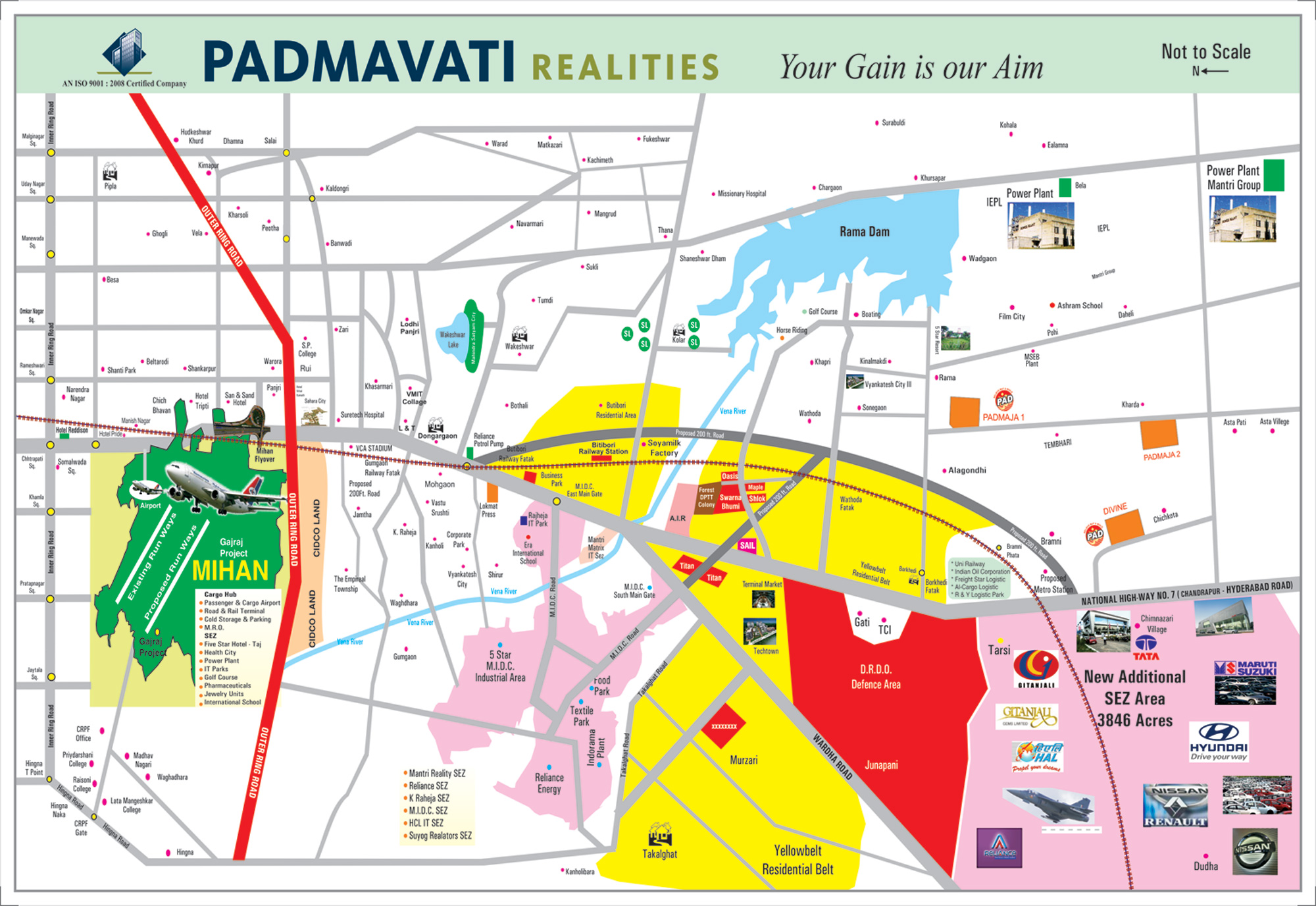 Site Location Map I Padmavati Realities Nagpur